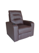 1 Seat Bonded Leather Sofa  Manual Recline Relax Chair Home Theater SCHT-001