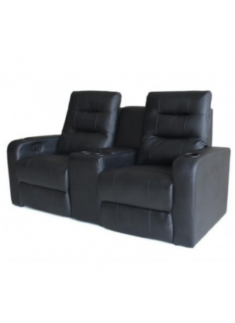 2 Seater Manuel Recliner Chair Sofa Home Theater Seating Middle Storage Armrest SCHT-002