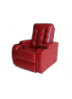 Bonded Leather Sofa Black Electric Power Recline Chair Home Theater SCHT-003-1