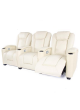 Electric Recliner Cool LED Light USB Chair Lounge Leather 3 Seater Home Theater SCHT-005