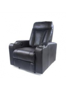 Sofa Electric Recliner Chair Leather 1 Seater Electroplated Cupholder SCHT-008