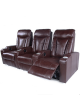 Sofa Electric Recliner Chair Leather Electroplated Cupholder OKIN Motor 3 Seater SCHT-008