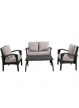 Outdoor Garden Patio Furniture Sofa Suite HONOLULU 4PCS Chair KD Set PE Wicker HS012-G