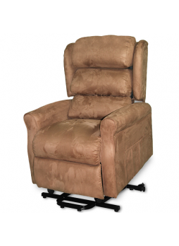 2 Motor Recline Electric Lift Senior Disabled Chair Sofa Massage Heat Small Size Fabric SCLC-8307
