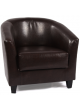 Cafe Lounge ACCENT Tub Chair Armchair PU Sofa New Black Pub Seats Home Furniture Couch Black