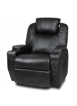 Manual Recliner Chair Leather Single Adjustable Head Black New SCRC-8208XB