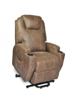 Dual Motor Recliner Electric Lift Massage Heating Chair Sofa Air Leather Small Size
