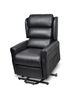 2 Motor Recline Electric Lift Senior Disabled Chair Sofa Massage Heat Small Size Leather SCLC-8307