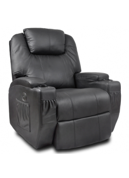 Virbrate Massage Heat Electric Recliner Chair Armchair Leather