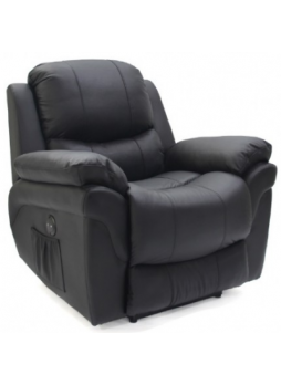 Electric Reclining Chair Sofa Couch Lounger Full Grain Leather 1 Seater SCRC-8211