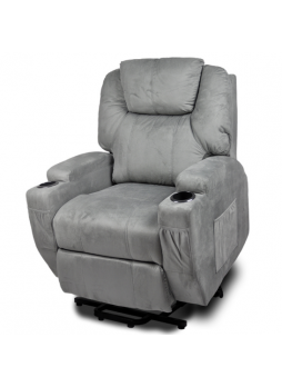 Dual Motor Recliner Electric Lift Chair Heating Massage fabric