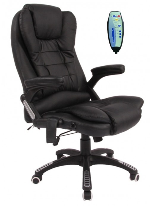 6 Point Massage fice Chair Massage Recliner Chairs Blcak fice Chair Black