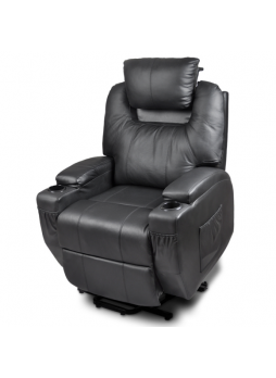 Massage Lift Electric Recliner Chair  2 Motor Heating Leather SCLC-8301-2