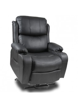 2 Motor Lift Recliner Chair Disabled Sofa Medical Massage Heat Leather SCLC-8311