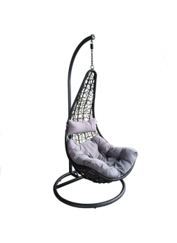 Rattan Hammock Swing Hanging Chair Outdoor Home Garden Sun Seat Relaxer Lounger