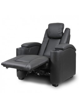 Electric Recliner LED USB Chair Lounge Single Seater Home Theater Leather