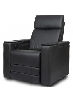Single Seater Leather Sofa Electric Recliner Home Theater Seating Chair Black SCHT-006