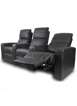 Home Theater Power Recliner Chair Couch 3 Seater Leather