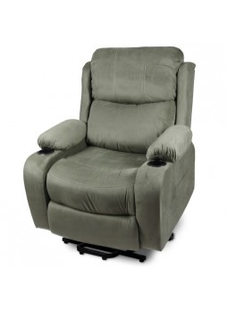 2 Motor Lift Recliner Chair Disabled Sofa Medical Massage Heat Fabric SCLC-8311
