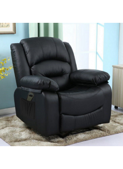 Electric Reclining Chair Sofa Remote 1 Seater Leather Home Seat Detachable Arm SCRC-8215
