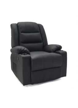 1 seater Couch Lounge Manual Recliner Relaxing Chair Sofa Bonded Leather SCRC-8212