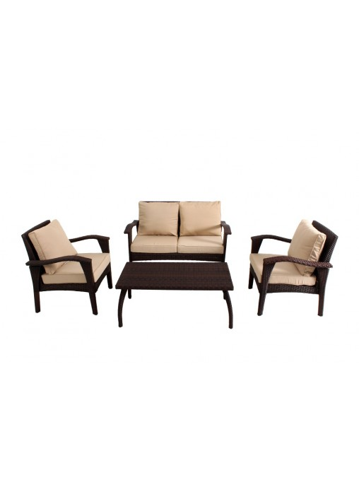 Outdoor Garden Patio Furniture Sofa Suite HONOLULU 4PCS Chair KD Set PE  Wicker