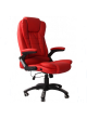 Office Chair With Foot Rest PU Leather massage heat SCOC-8503