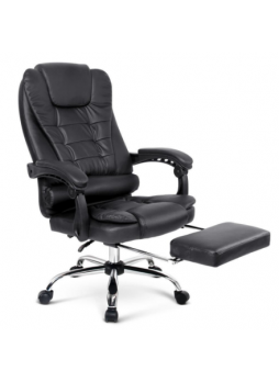Office Chair With Foot Rest PU Leather massage heat SCOC-1009MJ