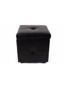 Room Furniture Box Storage Footrest Stool PU Sofa Lounge Seat Button Style New Toy Chest Black In Stock